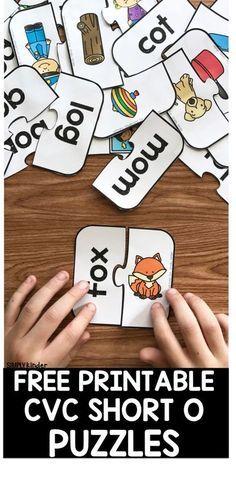 Free Printable CVC Short O Puzzles - Simply Kinder
