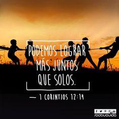 1 Corintios 12:14 Además, el cuerpo no es un solo miembro, sino muchos. ♔