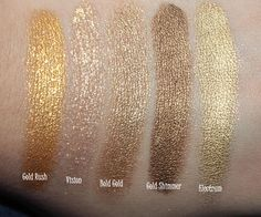 Swatches and Comparison: Maybelline Color Tattoo Metal Collection