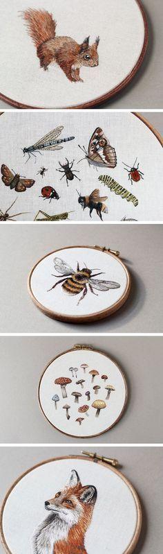 Embroidered Mushroom