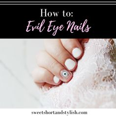 Got inspired by Turkish culture and decided to go with an evil eye design for this week's mani. Check out the latest post to see how to recreate this look!