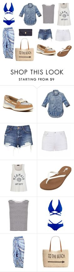"""5 days in Florida"" by thexangelsxmuse on Polyvore featuring Sperry Top-Sider, Abercrombie & Fitch, Topshop, Ally Fashion, Volcom, T By Alexander Wang, Accessorize, Style & Co., women's clothing and women"