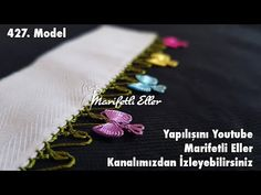 Fiyonk Yapamayan Kalmasın. Püf Noktalarıyla Muhteşem Bir Modelin Anlatımlı Yapılışı | 427. Model - YouTube Saree Border, Needlework, Elsa, Hair Accessories, Embroidery, Model, Crafts, Youtube, Tassels