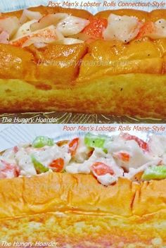 "Growing up in New England of course I love lobster rolls, or as more commonly pronounced 'lobstah' rolls.  There seems to be some very strong opinions on what exactly a lobster roll consist of.  I like them both ways.  Mine are ""poor man's"" because I don't use lobster at all but instead imitation crab.  Hey don't hate, I'm in land-locked Oklahoma and lobster is very expensive here."
