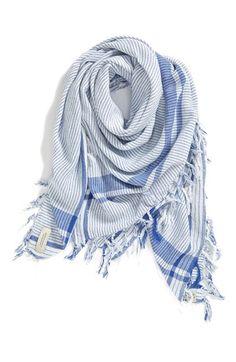 oversized stripe scarf / maison scotch