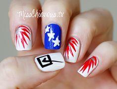 nail technician courses the best diy election themed nail art Beautiful Nail Designs, Cool Nail Designs, Nail Pro, Gel Nail Polish, Sports Nail Art, Nail Technician Courses, Usa Nails, Statement Nail, Moon Nails