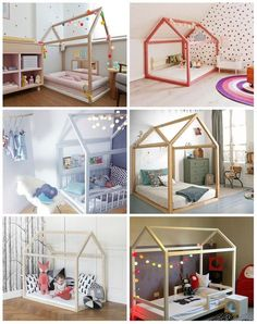 Cama montessoriana - ideias e dicas Baby Boy Rooms, Little Girl Rooms, Baby Bedroom, Girls Bedroom, Trendy Bedroom, Toddler Rooms, Toddler Bed, House Beds, Kid Spaces