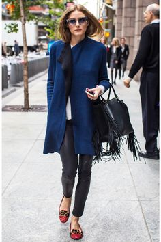 Olivia Palermo Is Still Championing The House Slipper #refinery29  http://www.refinery29.com/2014/11/77482/olivia-palermo-slipper-shoes-outfit#slide1  With these stylish slippers, Olivia P. makes the city streets feel like her living room.
