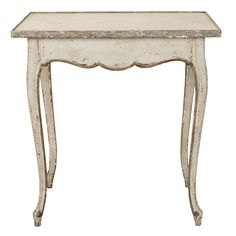 French White and Gray Painted Side Table 1
