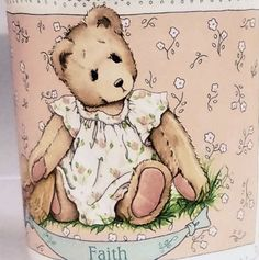 Faith Teddy Bear Priscilla Hillman Cherish Friend Mug Cup Coffee Tea Cocoa Milk #PriscillaHillman