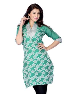 Buy Blue Color Jacquard Printed Kurti Online – Fashionic: Indian Ethnic Wear