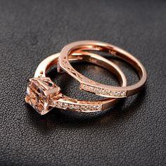 VVS1 Morganit Engagement Ring mit Diamanten die von ThisIsLOGR