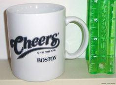 """Cheers Boston Massachusetts 3 3/4"""" Ceramic Coffee Mug Cup"""