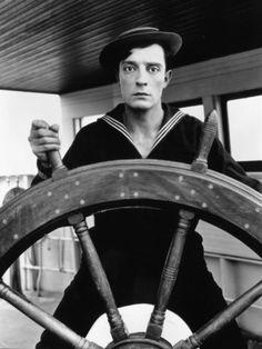 The Navigator, 1924 silent film, starring Buster Keaton Silent Screen Stars, Silent Film Stars, Movie Stars, Jurassic World, Jurassic Park, Classic Comedies, Classic Movies, Wassily Kandinsky, Birds Of Prey