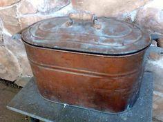 SOLD !!!!            Antique Large Copper Moonshine Still Wash Boiler REVERE Canner Folk Art American $67.50