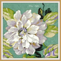 2 PAPER NAPKINS for DECOUPAGE - Aquarelle White Roses #386 by VintageNapkins on Etsy