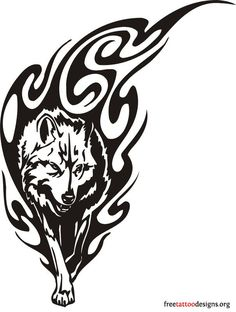 60 Awesome wolf tattoos + more about the meaning of wolves. Designs include tribal and howling wolves, wolf head and paw tattoos. Wolf Tattoo Design, Tribal Tattoo Designs, Tribal Wolf Tattoos, Tattoo L, Body Art Tattoos, Skull Tattoos, Fire Tattoo, Wing Tattoos, Raven Tattoo