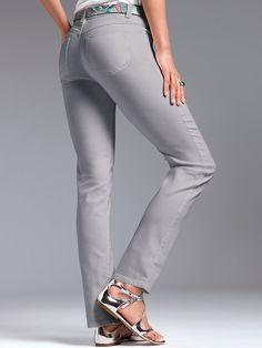 Extraschmale Denim, Pants, Fashion, Grey, Clothing, Women's, Trouser Pants, Moda, Fashion Styles