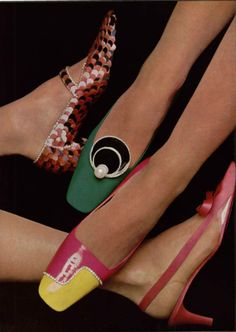 1966 Christian Dior .Charles Jourdan,Roger Vivier, Pierre Cardin.