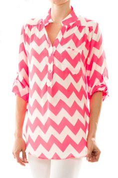 ALL AMERICAN GIRL Neon Pink Chevron Stripe Tunic Shop Simply Me Boutique – Simply Me Boutique