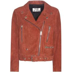 0d34356286 Acne Studios Mock Suede Jacket (€1.490) ❤ liked on Polyvore featuring  outerwear