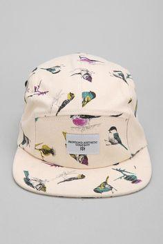 brand new 109c1 b5be9 Profound Aesthetic Birds 5-Panel Hat  urbanoutfitters Gorro Mujer, Gorras  Snapback, Gorras