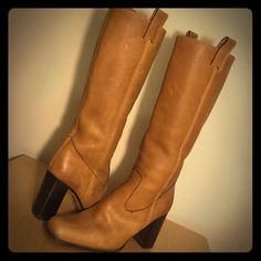 be9a845e00 Vero Cuoio Vintage Italian Leather Knee High Boots | Color: Tan | Size: 7