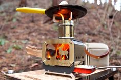 Portable Stove, Pizza Oven Outdoor, Heat Resistant Glass, Surface Design, Stainless Steel, Hiking, Outdoors, Camping, Room