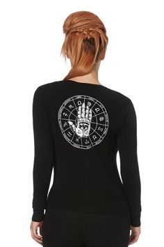 Occult Goth Cardigan | RK Edge, Home of Psychobilly Fashion Clothing