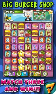 Big Burger Shop Match 3 Puzzle - screenshot