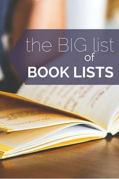 Over 50 book lists!