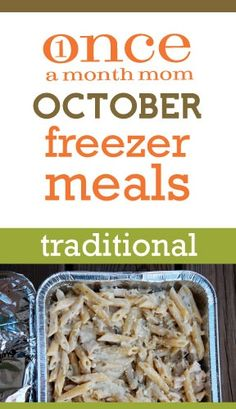Freezer cooking menu - recipe cards, grocery lists, step-by-step instructions and more.
