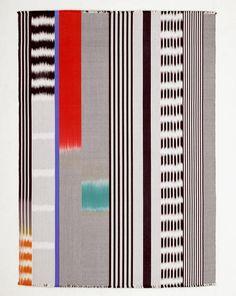 MaryRestieaux | plain weave | acid-dyed silk | ikat patterning in the warp | 63.5 cm x 45 cm | London, U.K. | c. 1980s