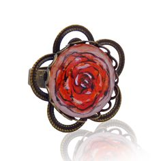 flower – ring painted with a hand