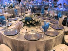 Light blue and silver wedding