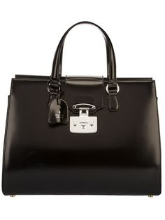 GUCCI Lock Leather Tote, from autumn winter 2013. www.wunderl.com