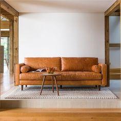 Tan Sven Charme Sofa. Article furniture company.