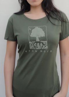 0e220ee8 Gardening Gift | Organic Clothing | Gardening Tshirt | Tree Tshirt |  Environmental T-shirt | Women's Bamboo Clothing | GROW MORE - Uni-T