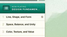 playlist interface.
