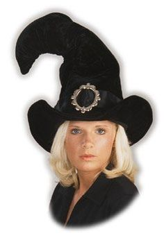 Adult Bent Witch Costume Hat