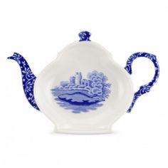 Spode Blue Italian Tea Bag Tidy / Spoon Rest Set of 4 - Blue Italian -Spode UK