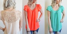Love me a good top that can be dressy or casual!! Beautiful colors and only $12.99!