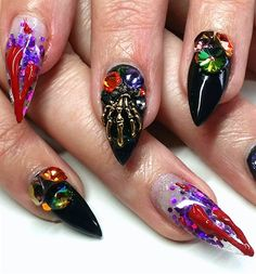 Haloween Gel Stilettos 2015
