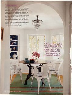 Amanda Peet's house in Domino. The kitchen nook