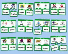 Prefixes & Suffixes Match-Ups