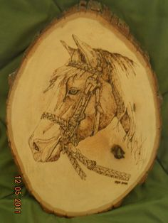 Horse Wood Burning Wall Hanging
