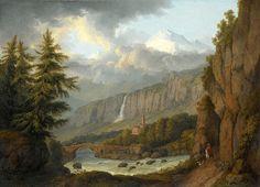 View Of Giornico From The St Gotthard Pass. Switzerland  Jacob Philipp Hackert
