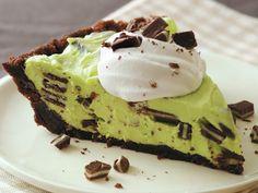 Green Goblin Pie {made with Betty Crocker Fudge Brownie mix!} #Halloween