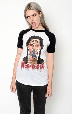 Wednesday Addams Baseball Tee Shirt Women