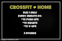 CrossFit WOD For HomeHappy Fit Mama